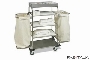 foto Trolleys: Housekeeping Trolley Gemelli Inox