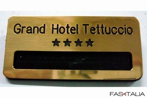foto Accessories for hotel:  Brass personalized name badge