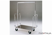 Garment and Luggage Trolley Chromed Steel