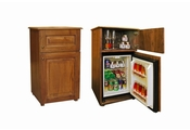 Classic woodenblock minibar 30lt with storage tray