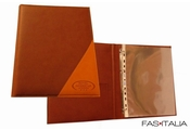 Faux Leather Ring Folder